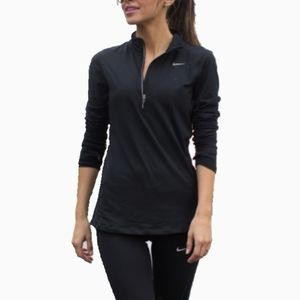 NIKE | DRI-FIT BLACK QUARTER ZIP LONG SLEEVE
